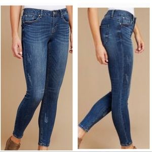 Dex Super Skinny Ankle Stormy Blue Ankle Cut Jeans